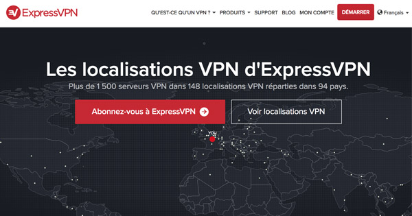 ExpressVPN serveurs