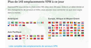 Localisations-ExpressVPN