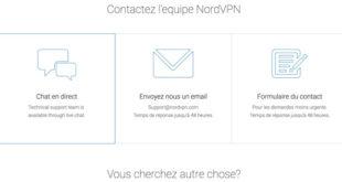 Support client NordVPN