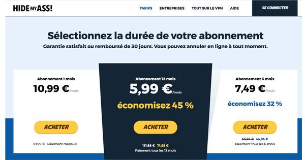tarification-hidemyass