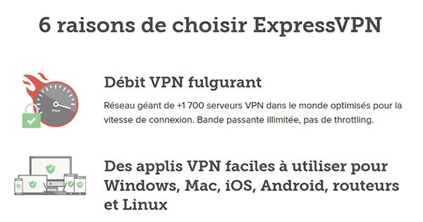 Pourquoi choisir ExpressVPN