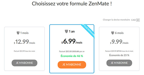 Code promotionnel Zenmate