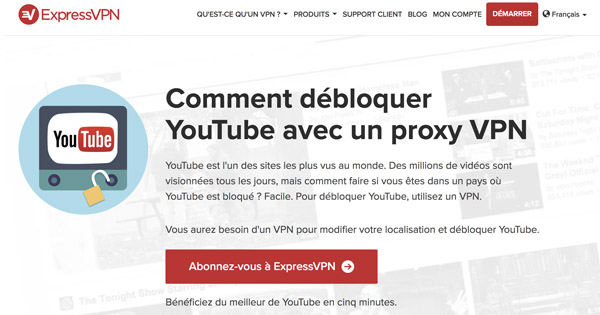 Débloquer Youtube ExpressVPN