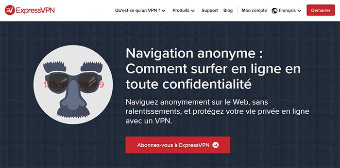 Sécurité et anonymat ExpressVPN