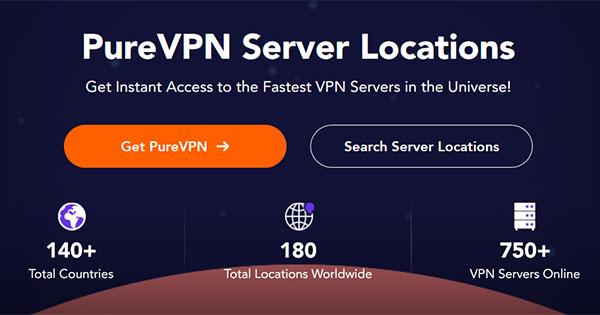 Serveurs PureVPN