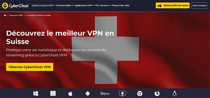 CyberGhost en Suisse