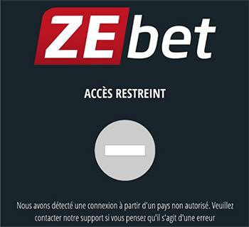 Zebet blocage