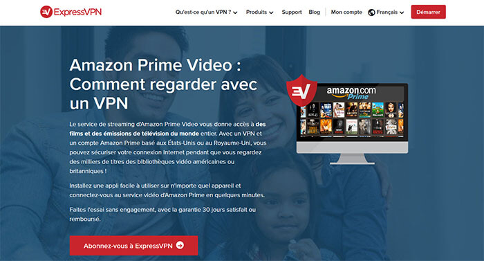 ExpressVPN sur Amazon Prime Video