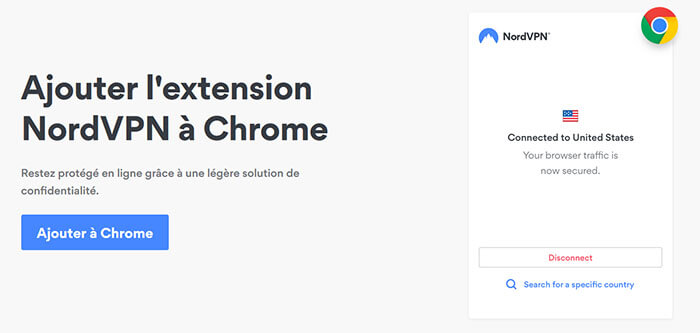 NordVPN sur Chrome