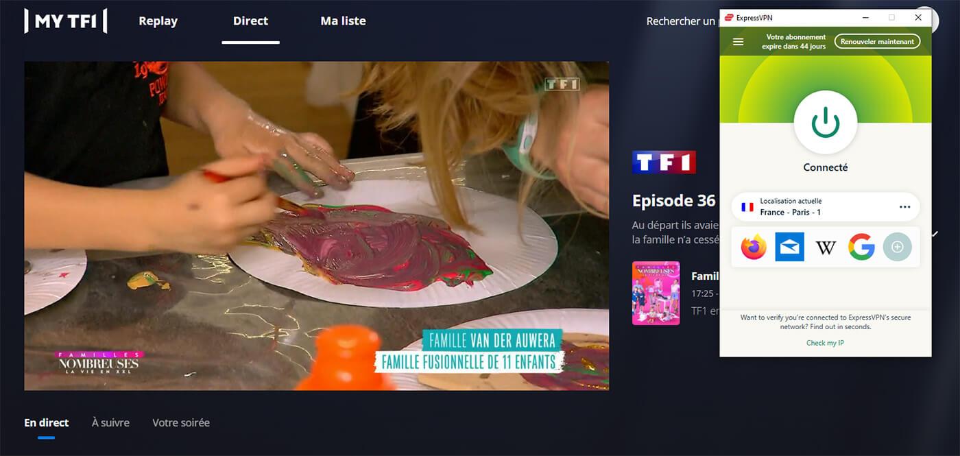 Déblocage Visionnage Direct TF1 étranger