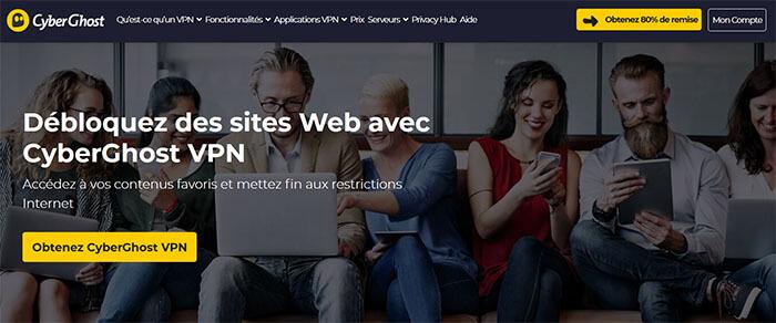 Déblocage site CyberGhost