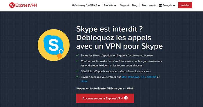 Débloquer Skype ExpressVPN