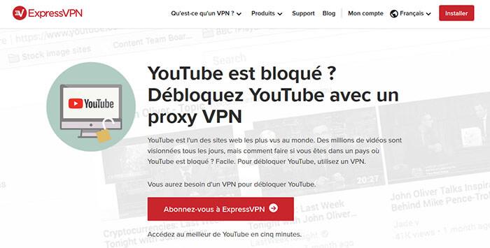 Débloquer YouTube avec ExpressVPN