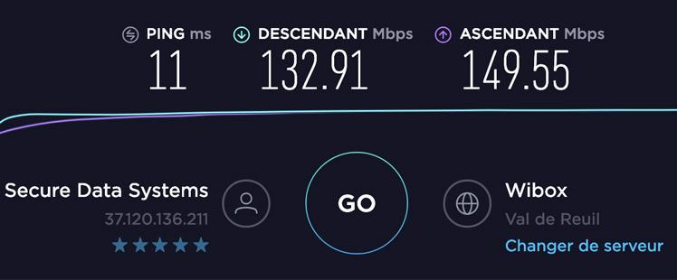 Test de vitesse Ivacy