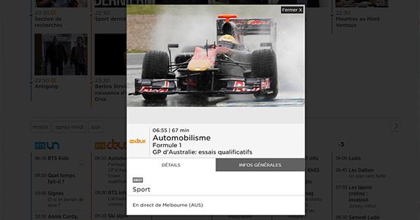 Qualifs F1 streaming