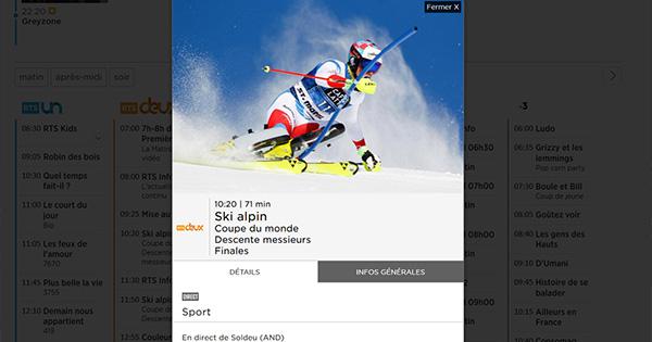 Ski alpin RTS