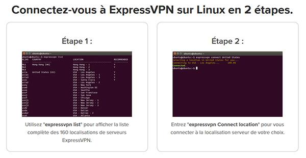 Connexion ExpressVPN Linux