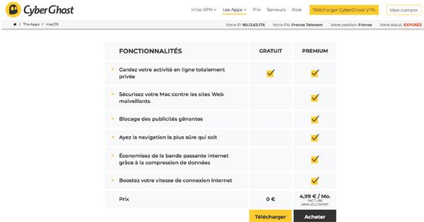 Cyberghost-gratuit-premium