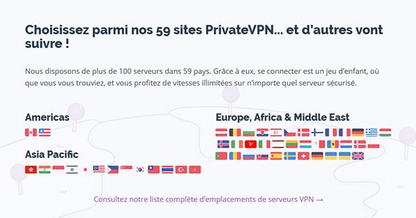 Serveurs-PrivateVPN