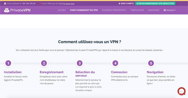 Utilisation-PrivateVPN