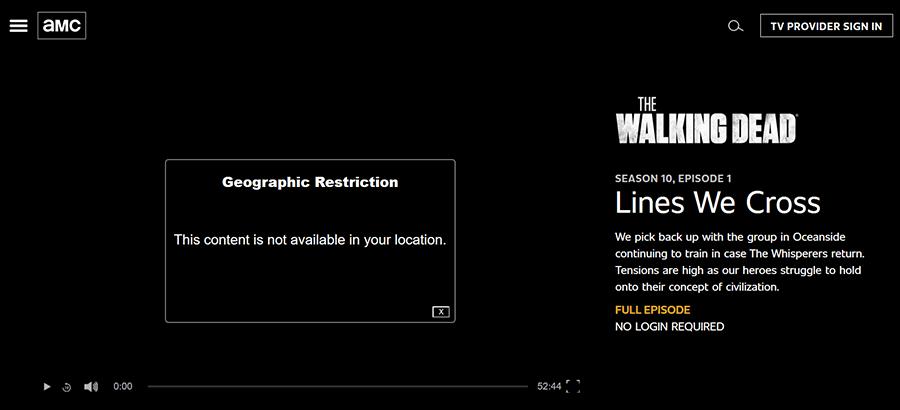 AMC bloqué en France