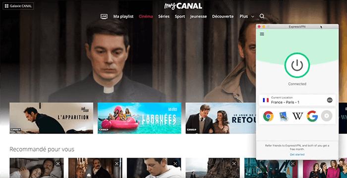 Déblocage de Canal+ à l'étranger