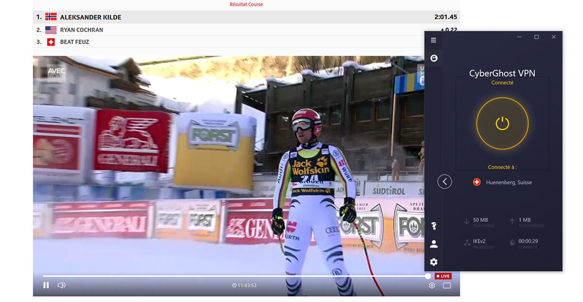 Déblocage RTS Ski Alpin CyberGhost