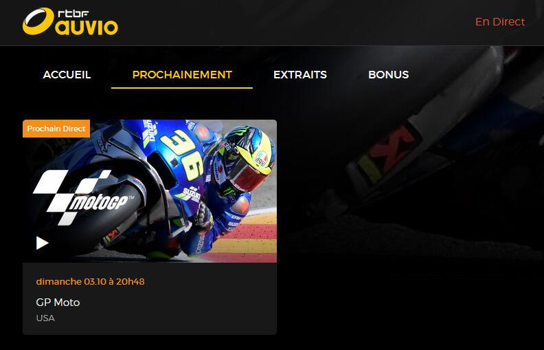 Programme TV RTBF GP MotoGP USA