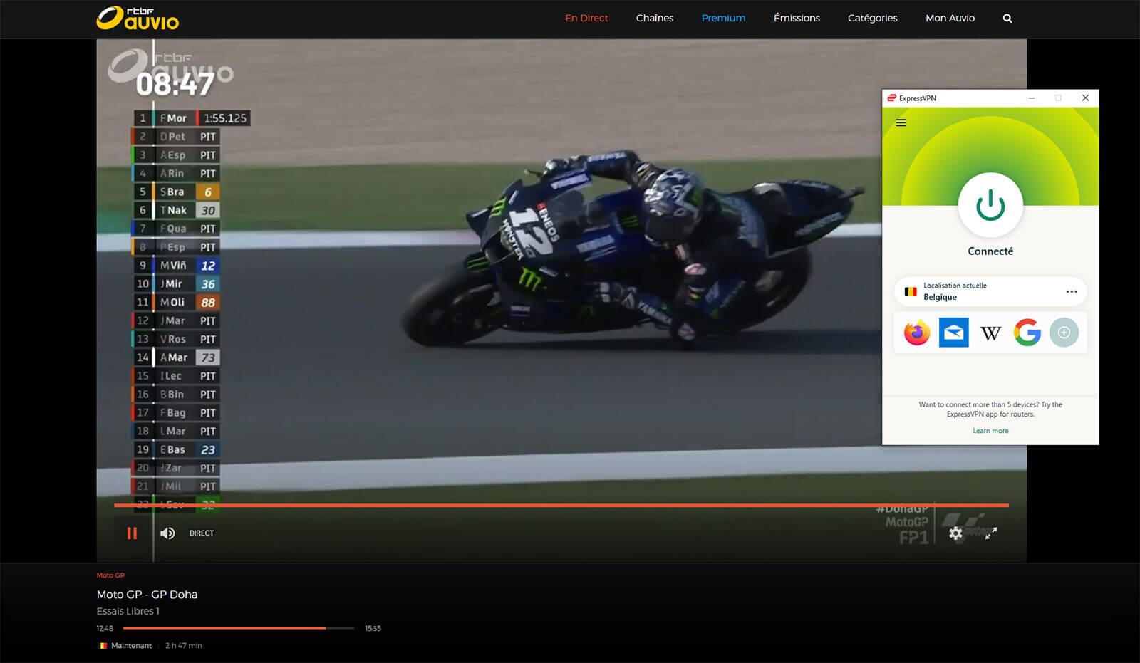 Visionnage Direct MotoGP chaine gratuite